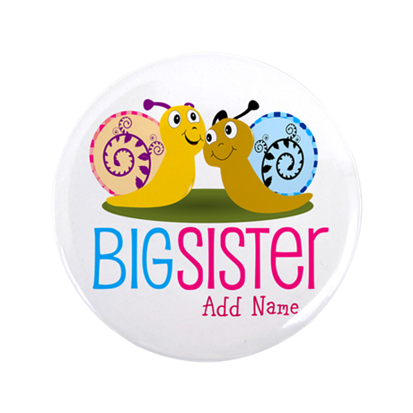 "Add Name Big Sister 3.5"" Button (100 pack)"