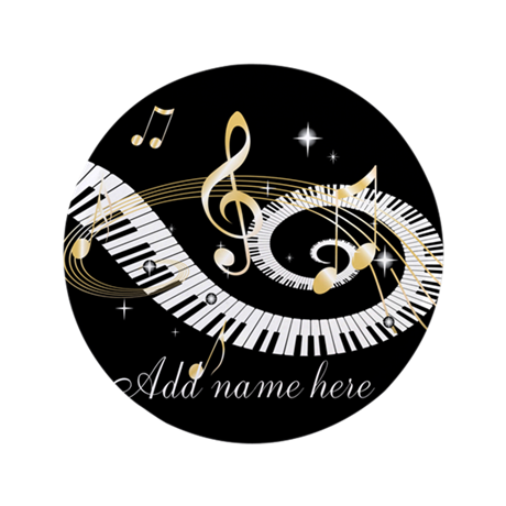 "Personalized Piano Musical gi 3.5"" Button (100 pac"