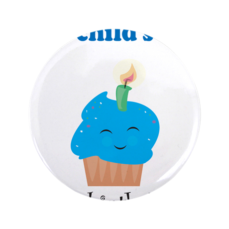 """Personalized First Birthday - 3.5"""" Button (100 pac"""