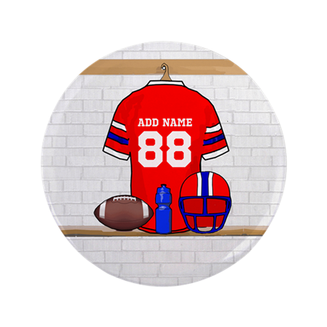 """Personalized Football Grid iron jersey 3.5"""" Button"""