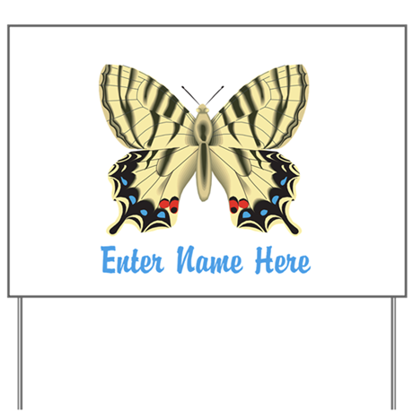 Personalized Butterfly Yard Sign