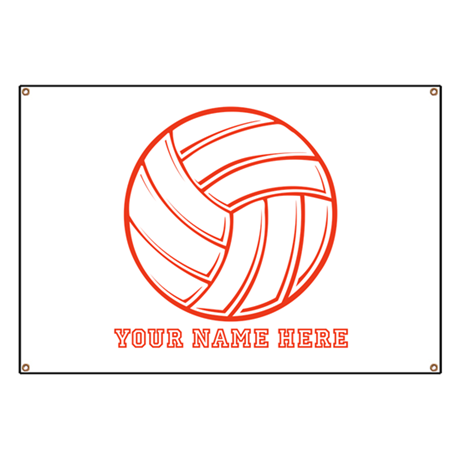 custom red volleyball banner by yournamesports. Black Bedroom Furniture Sets. Home Design Ideas