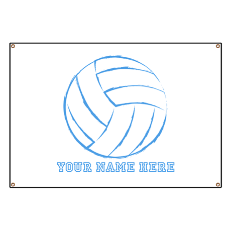 custom blue volleyball banner by yournamesports. Black Bedroom Furniture Sets. Home Design Ideas