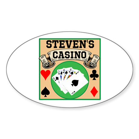 Personalized Casino Sticker (Oval 10 pk)