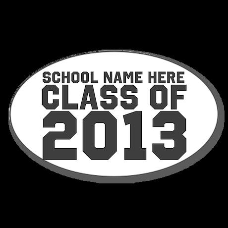 2013 Graduation Sticker (Oval 10 pk)