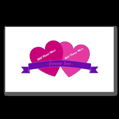 Forever Love Heart Names Sticker
