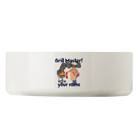Personalized Grill Master Large Pet Bowl