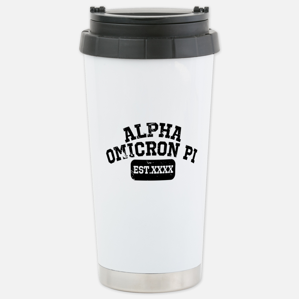 Alpha Omicron Pi XXXX Travel Mug