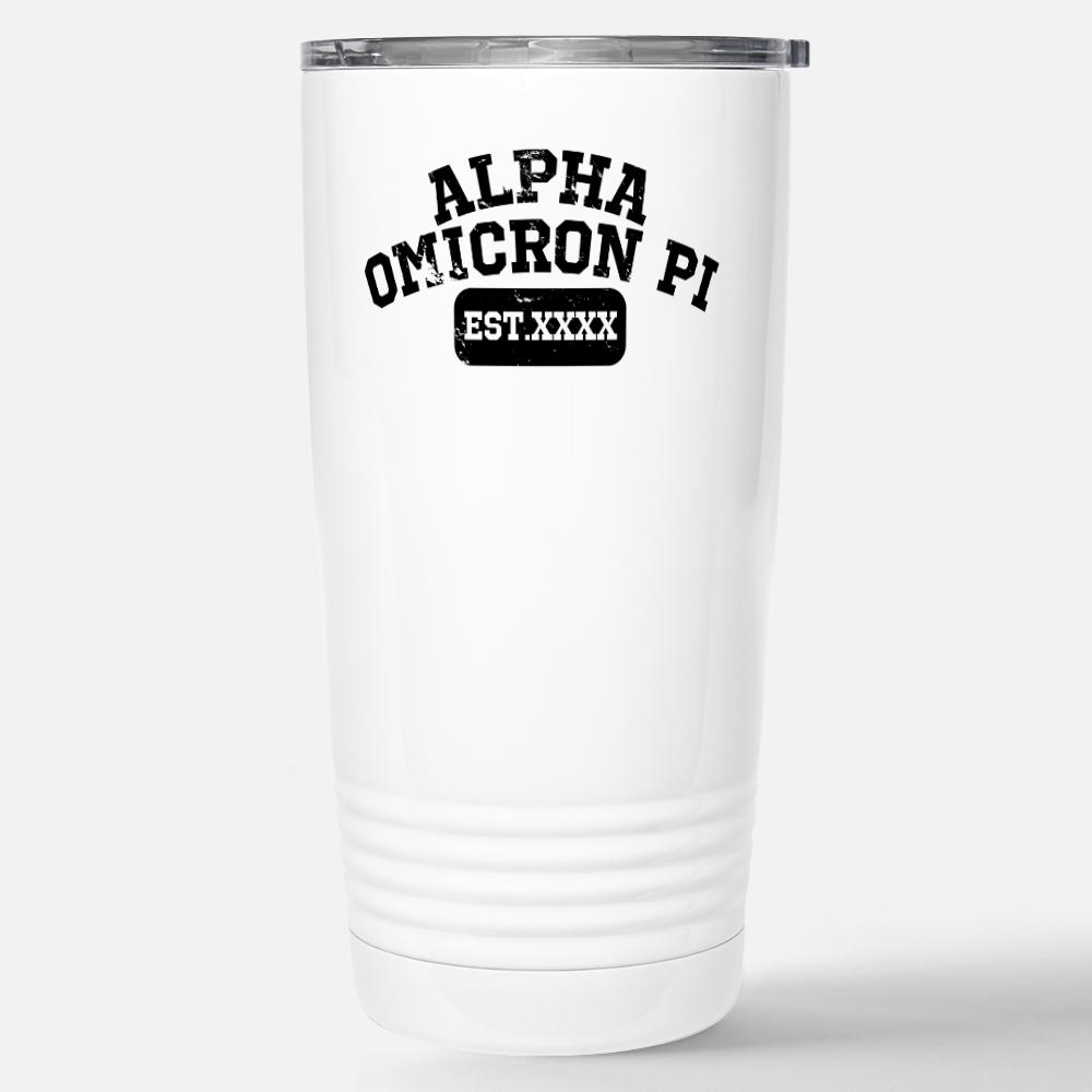 Alpha Omicron Pi XXXX Travel Mug