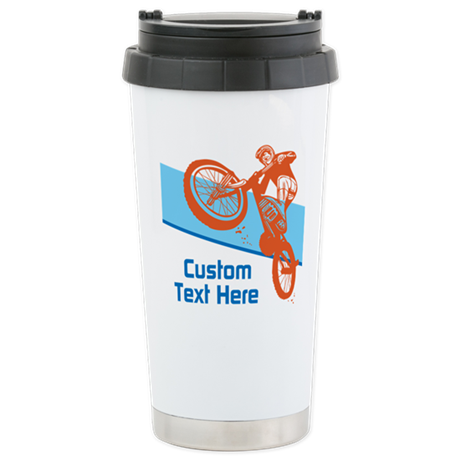 Custom Motocross Bike Design Travel Mug By Custombikedesign