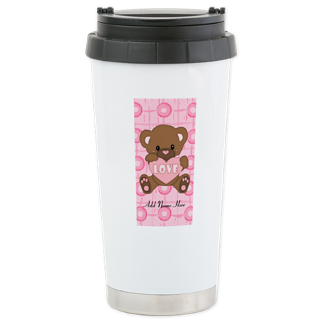 Personalized Cute pink valent Stainless Steel Trav