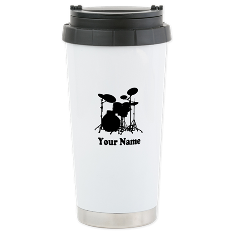 Personalized Drums Stainless Steel Travel Mug