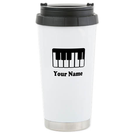 Personalized Piano Keyboard Stainless Steel Travel