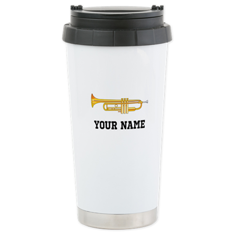 Personalized Trumpet Stainless Steel Travel Mug
