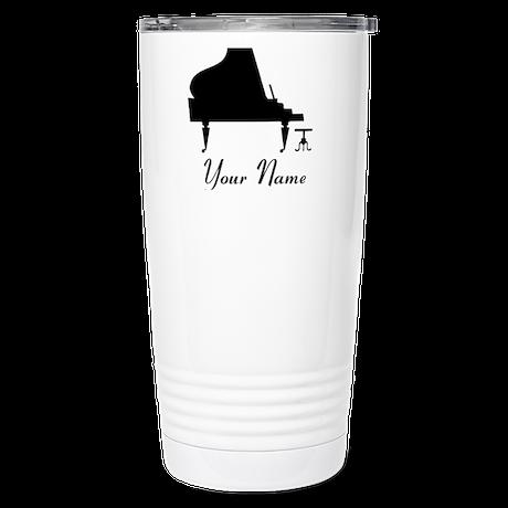 Personalized Piano Music Stainless Steel Travel Mu