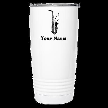 Personalized Saxophone Stainless Steel Travel Mug