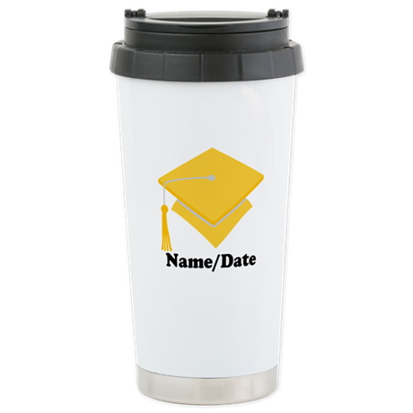 Personalized Gold Graduation Stainless Steel Trave