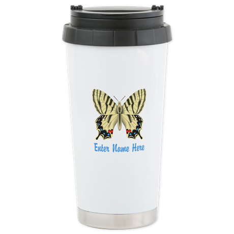 Personalized Butterfly Stainless Steel Travel Mug
