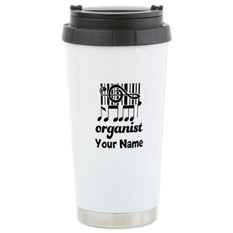 Personalized Organist Stainless Steel Travel Mug