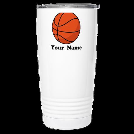 Personalized Basketball Stainless Steel Travel Mug