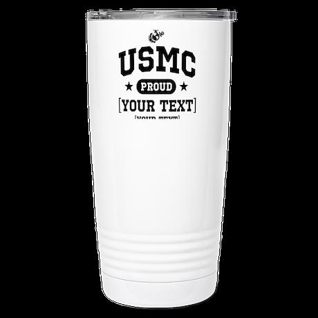 PERSONALIZE USMC Family Stainless Steel Travel Mug