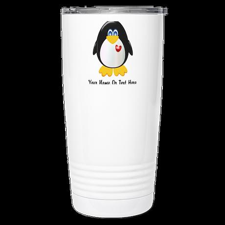 Customizable Penguin Stainless Steel Travel Mug