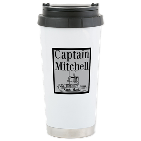 Personalized Captain Stainless Steel Travel Mug