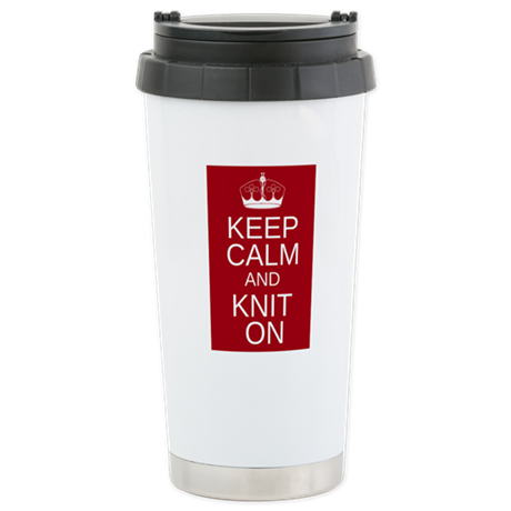 Customisable Keep Calm and Kn Stainless Steel Trav
