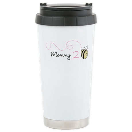 Personalized Pregnancy Announcement Bee Travel Mug