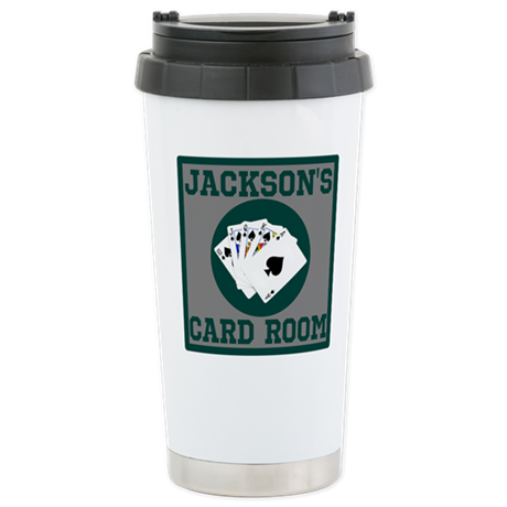 Personalized Card Room Stainless Steel Travel Mug