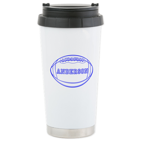 Personalized Football Stainless Steel Travel Mug