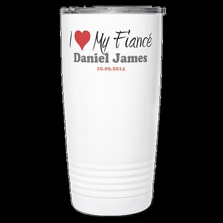 I Heart My Fiancé Stainless Steel Travel Mug