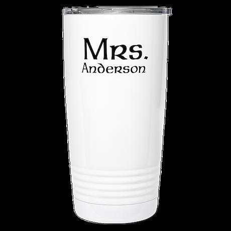 Personalized Mr and Mrs set - Mrs Thermos Mug