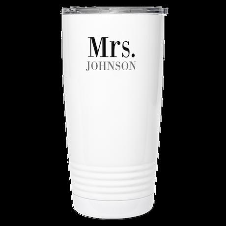 Customized Mr and Mrs set - Mrs Thermos Mug