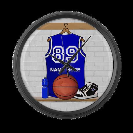 Personalized Basketball Jerse Large Wall Clock