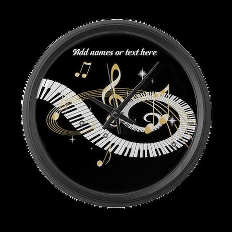 designer Musical notes Large Wall Clock