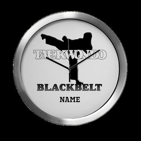 TaeKwonDo Black Belt Modern Wall Clock