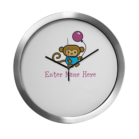 Personalized Monkey Modern Wall Clock