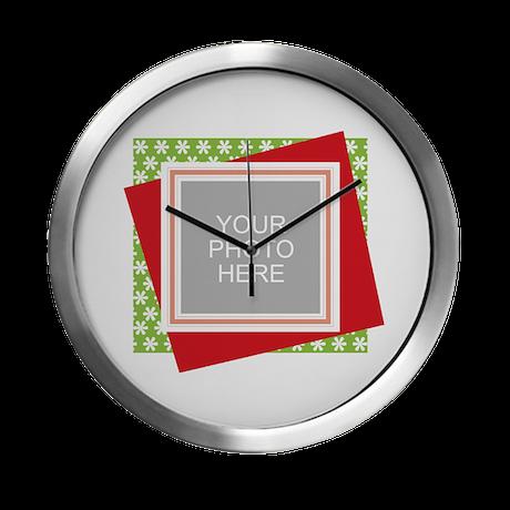 Personalized Christmas Snowman Modern Wall Clock