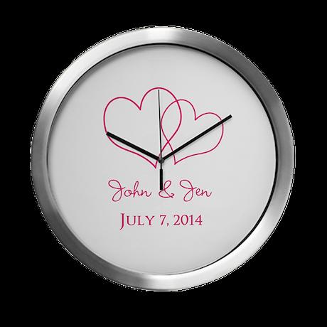 Custom Wedding Favor Modern Wall Clock