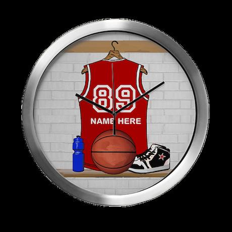 Personalized Basketball Jerse Modern Wall Clock