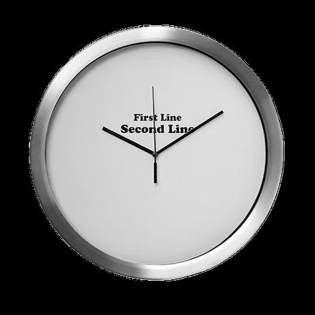 2lineTextPersonalization Modern Wall Clock
