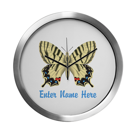 Personalized Butterfly Modern Wall Clock