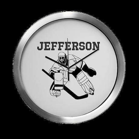 Personalized Hockey Modern Wall Clock