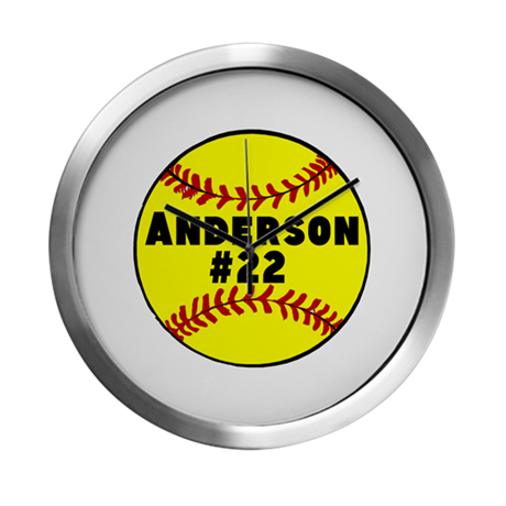Personalized Softball Modern Wall Clock