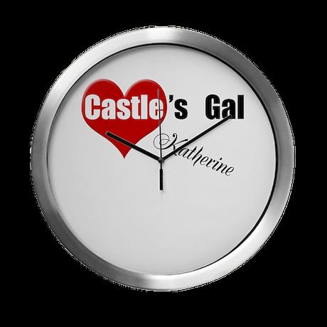 Personalizable Castle's Gal Modern Wall Clock