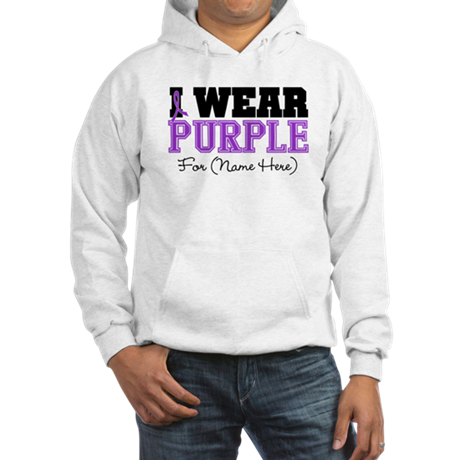 Custom Pancreatic Cancer Hooded Sweatshirt