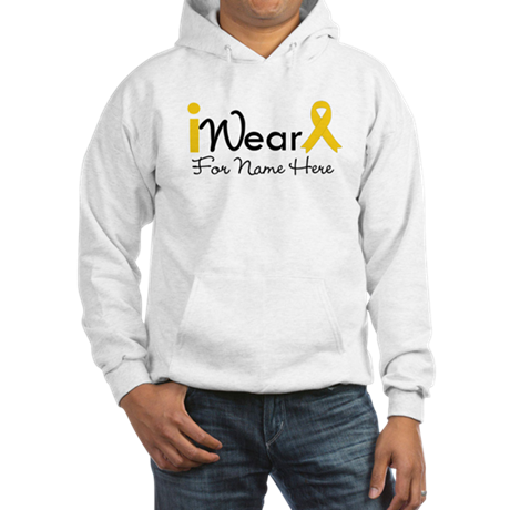 Personalize Childhood Cancer Hooded Sweatshirt