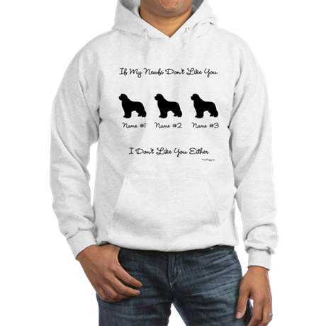 3 Newfoundlands Hooded Sweatshirt