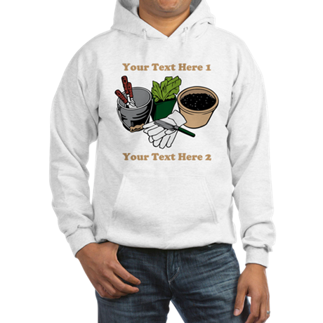 Gardening. Custom Text Hooded Sweatshirt